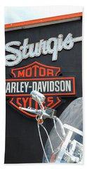 Sturgis Harley Store Bath Towel by Micah May