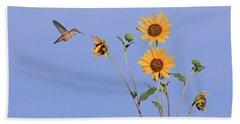 Summer Day Hummingbird Hand Towel
