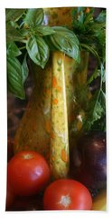 Hand Towel featuring the photograph Summer's Bounty by Kay Novy