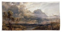 Sun Behind Clouds Hand Towel by John Linnell