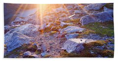 Hand Towel featuring the photograph Sunburst Over Abyss Lake by Jim Garrison