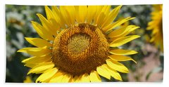 Hand Towel featuring the photograph Sunflower by Donna  Smith