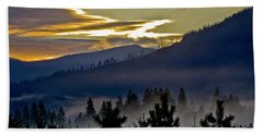 Bath Towel featuring the photograph Sunrise And Valley Fog by Albert Seger