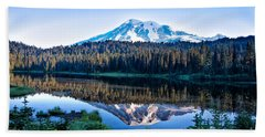 Sunrise At Reflection Lake Hand Towel
