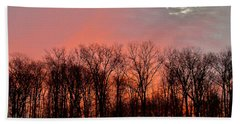 Hand Towel featuring the photograph Sunrise Behind The Trees by Mark Dodd
