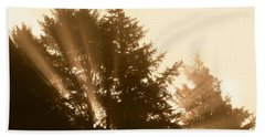Sunrise In Sepia Bath Towel