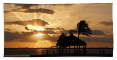 Hand Towel featuring the photograph Sunrise Over Bay by Clara Sue Beym