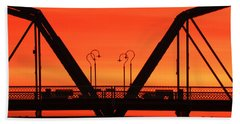 Sunrise Walnut Street Bridge Bath Towel