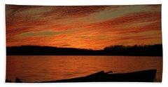 Sunset And Kayak Bath Towel