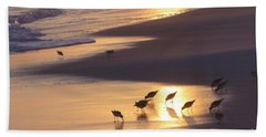 Hand Towel featuring the photograph Sunset Beach by Nava Thompson