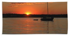 Hand Towel featuring the photograph Sunset Cove by Clara Sue Beym