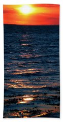 Hand Towel featuring the photograph Sunset Denmark Samsoe Island by Colette V Hera  Guggenheim