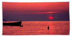 Hand Towel featuring the photograph Sunset In Elba Island by Luciano Mortula