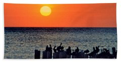Hand Towel featuring the photograph Sunset In Florida by Lydia Holly