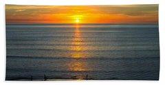 Sunset - Moana Beach - South Australia Hand Towel by Jocelyn Kahawai
