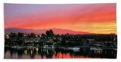 Sunset On Lake Havasu Hand Towel