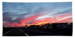 Sunset On Route 66 Bath Towel