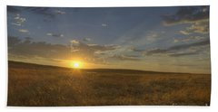 Sunset On The Prairie Hand Towel by Jim And Emily Bush