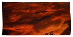 Hand Towel featuring the photograph Sunset Over Altoona by DigiArt Diaries by Vicky B Fuller