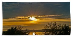 Sunset Over Steilacoom Bay Hand Towel by Tikvah's Hope
