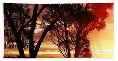 Sunset Through The Trees Hand Towel