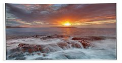 Sunset Tides - Cemlyn Bath Towel