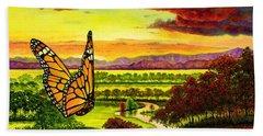 Sunshine Traveler-monarch Bath Towel