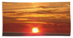 Bath Towel featuring the photograph Superior Setting by Bonfire Photography