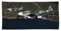 Supermarine Spitfire Mk. Xviii And Mk Hand Towel