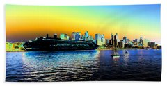 Sydney In Color Hand Towel by Douglas Barnard