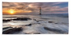 Talacre Lighthouse  Bath Towel
