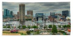 Tall Ships At Baltimore Inner Harbor Hand Towel
