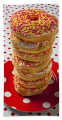 Tall Stack Of Donuts Bath Towel
