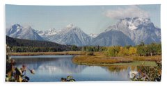 Tetons Reflection Hand Towel