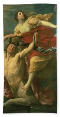 The Abduction Of Deianeira Hand Towel by  Centaur Nessus