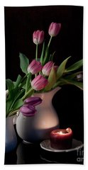 The Beauty Of Tulips Hand Towel by Sherry Hallemeier