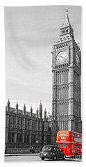 Bath Towel featuring the photograph The Big Ben - London by Luciano Mortula