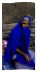 The Blue Shawl Hand Towel by Lynn Palmer