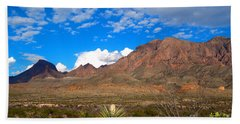The Chisos Mountains Big Bend Texas Hand Towel