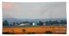 Hand Towel featuring the photograph The Countryside by Davandra Cribbie