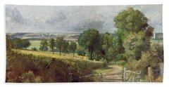 The Entrance To Fen Lane By Constable John Bath Towel