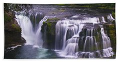 Hand Towel featuring the photograph The Falls by David Gleeson