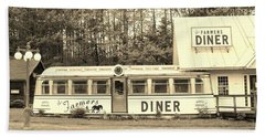 Bath Towel featuring the photograph The Farmers Diner In Sepia by Sherman Perry