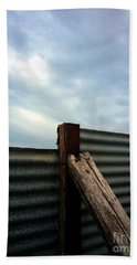 Bath Towel featuring the photograph The Fence The Sky And The Beach by Andy Prendy