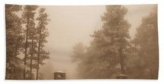 Hand Towel featuring the photograph The Fog by Shannon Harrington