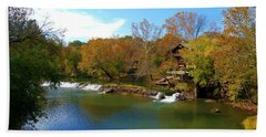 Hand Towel featuring the photograph The Grist Big River by Peggy Franz