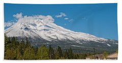 The Heart Of Mount Shasta Bath Towel