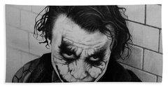The Joker Hand Towel by Carlos Velasquez Art