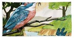 The Kingfisher Hand Towel