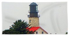 The Lighthouse Of Tatoosh Hand Towel by Tikvah's Hope